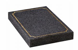 Granite Dark Grey Cremation Memorial - 16184
