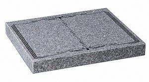 Granite Lunar Grey Cremation Memorial - 16185
