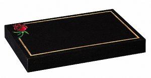 Granite Black Cremation Memorial - 16186