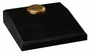 Granite Black Cremation Memorial - 16192