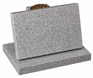 Granite Lunar Grey Cremation Memorial - 16197