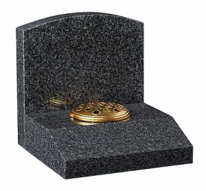 Granite Dark Grey Cremation Memorial - 16195