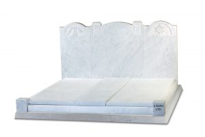 Italian White Marble Jewish Headstone - ED3A
